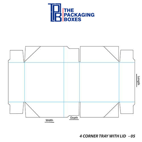 4-Corner-Tray-With-Lid-full-template