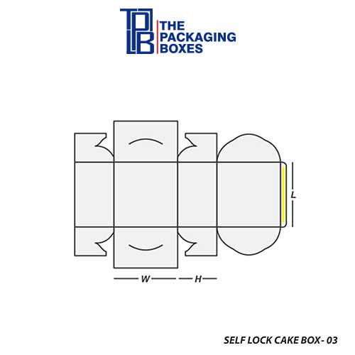 Self-Lock-Cake-Box-Template